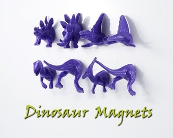 Dinosaur Magnets for Child Bday Gift - 8 Piece set of super strong Magnets - summer purple EtsyAU