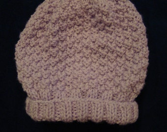 Knitted Purple Baby Hat
