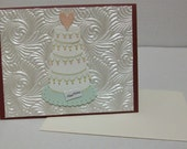 Wedding Card--Cake Wedding Card--Congrats Wedding Card