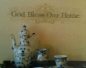 God Bless Our Home - Wall Decal