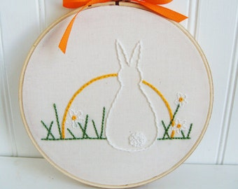 bunny at sunrise hand embroidery pattern