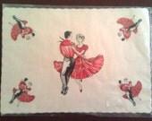Vintage/Retro Square Dancing Paper Placemats (Set of 10)