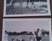 Two Vintage Family Photos: A Day at the Beach