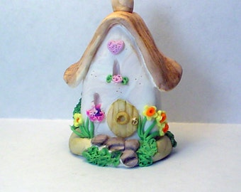 """OOAK Cottage Fairy House """"Daffodil Lane Manor""""  by C Adams"""