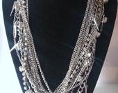 ROXY - Rhinestone, Spike, Chain Layered Necklace