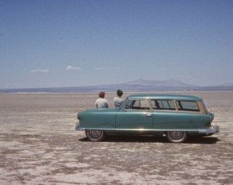Vintage Photo: Getting Away From it all, Early 50s Nash Rambler Station Wagon