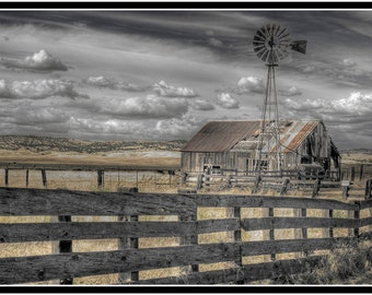 Fine Art Photography: Old and Abandoned Barnyard, a 12 x 8 print