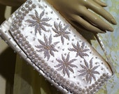 Pearl and Beaded Satin Formal Clutch: Richere Bag by Walborg