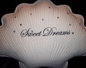 Sweet Dreams Shell Shape Pillow  in YOUR Color Choice with stars