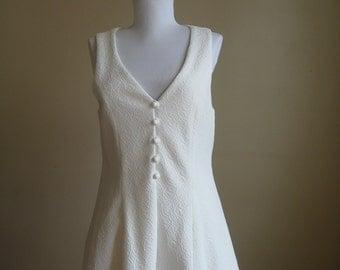 Vintage Ivory Brocade Vest.