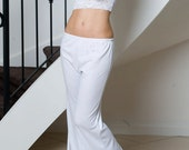 Camisole Pyjamas  White PJ Set in Jersey Size Small