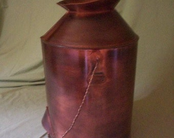 Patina Copper Milk Can