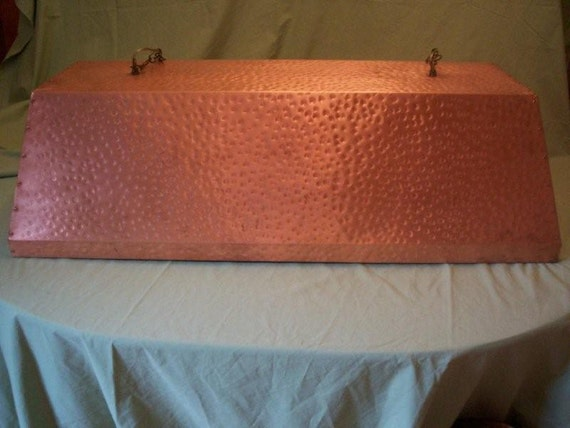Hand Hammered Copper, Pool Table, Kitchen Island Light
