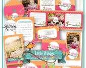 "Photoshop template ""LITTLE WINGS"" photography branding Marketing 11 piece Package"