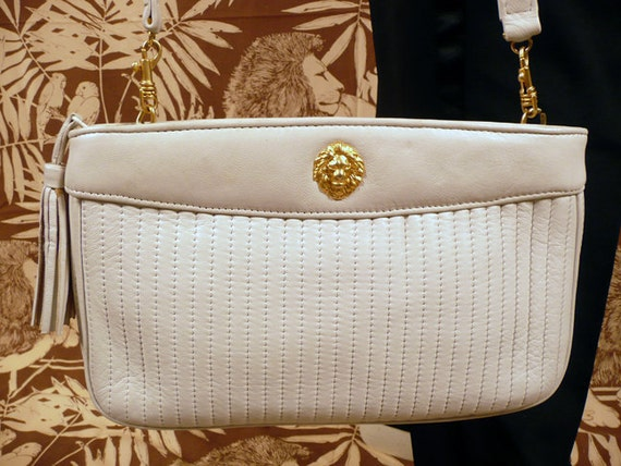 Vintage 80's ANNE KLEIN for Oroton Ivory Shoulder Bag Purse S