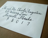Formal Wedding Envelope Calligraphy Handwritten in Black Dip Pen Ink