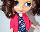 Gilet rose fuchsia pour Blythe