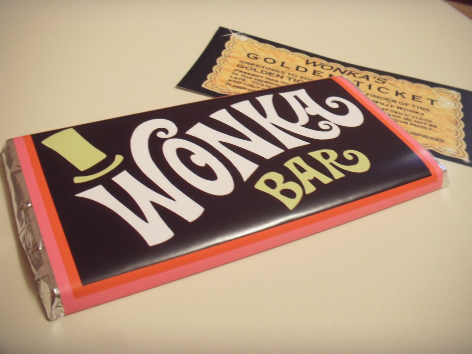 Willy wonka & the chocolate factory replica novelty wonka bar