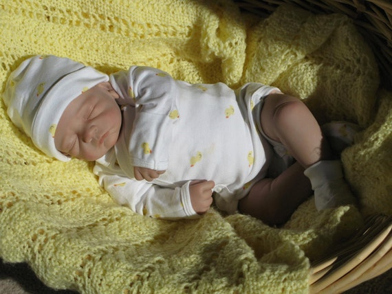 Reborn baby girl, from Ember kit by Tasha Edenholm now baby Ella,heirloom doll, fake baby, newborn