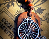 Old School Bicycle Necklace