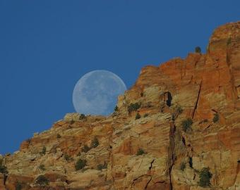 Moon Rise - Vintage Photograph