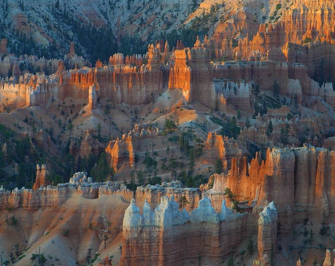 Sunrise at Bryce Canyon,  - Cross Stitch Pattern from a Vintage Photograph