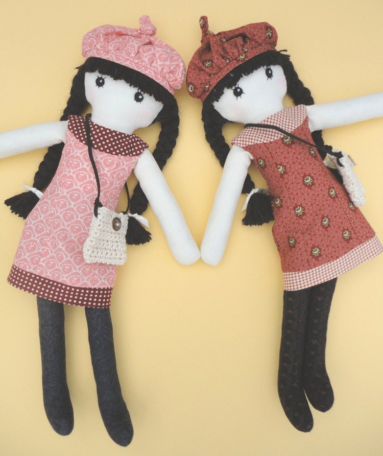 This is a photo of Playful Printable Rag Doll Patterns