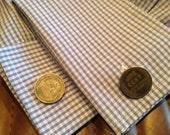 Cufflinks - '43 Wartime Steel Penny(s) - Historic - Unique