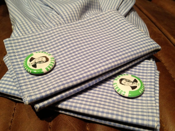 Cufflinks - Ronald Reagan for Governor Campaign Buttons - Political - Unique - New