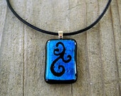 Dichroic Fused Glass Jewelry Pendant
