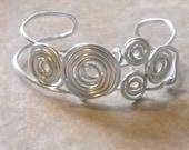 CUSTOM ORDER 2 for SUSAN(kookkook) 1 Multi Swirl Silver Bracelet Cuff, 2 Double Twist Swirl Cuffs