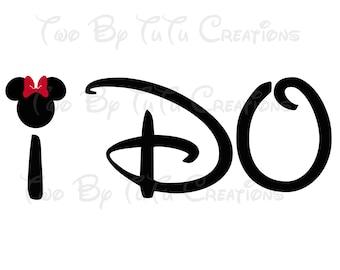 Disney I Do Set of Two Printable Iron On Transfer DIY Mickey and Minnie Disney Honeymoon