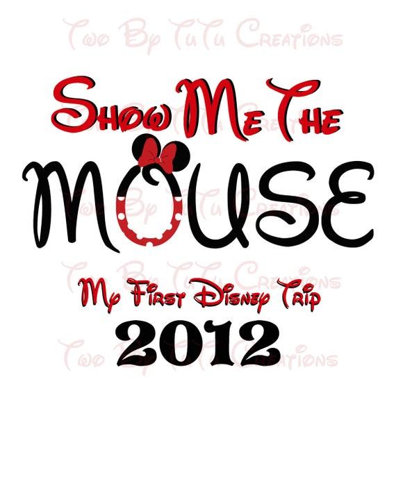 My First Disney Trip Custom DIY Printable Image for Iron On Transfer Disney Mickey or Minnie