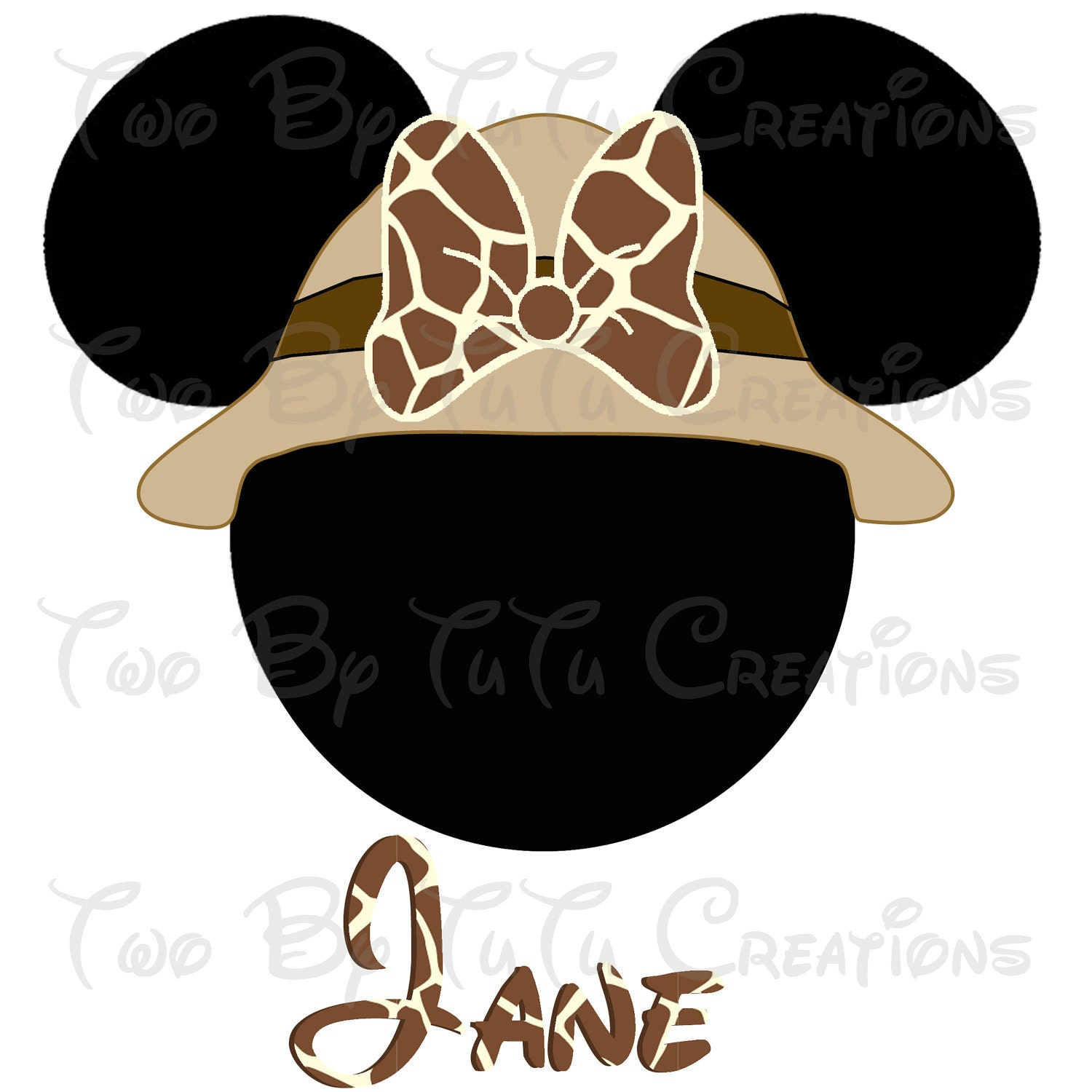 Minnie Mouse Head Clip Art Minnie mouse safari