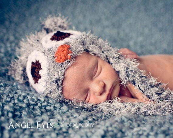 newborn owl hat-fuzzy owl-crochet hat-newborn photo prop-baby hat