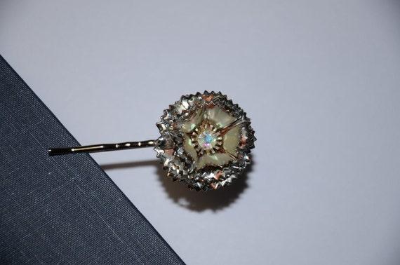 vintage starburst earring bobby pin
