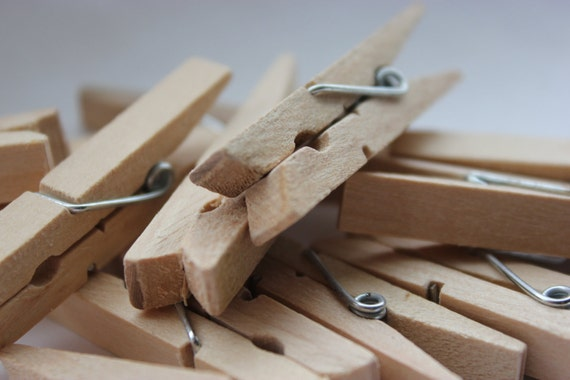 96 Small 1 3/4 Natural Wood Clothespins