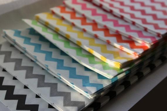 Set of 35 Rainbow Chevron Medium Bitty Bags 5 x 7.5 Merchandise Candy Bags