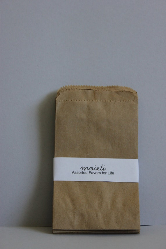 25 Small 3x5 Kraft Flat Merchandise Bags