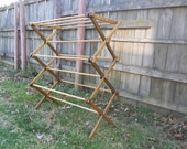 Clothes Drying Rack Made of Wood, DARK Colored