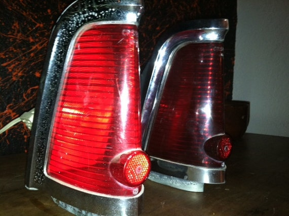 Vintage 1964 Lincoln Continental tale lite/retro lamps (Pair)