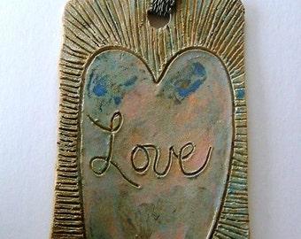 Love Heart Hanger Gift For Her Pretty Multi Glazed On Sale