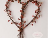 Natural Heart Twig Wreath