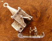Nuvo vintage UK sterling silver charm Church Opens To Wedding