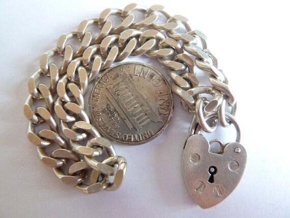 17 GR Birmingham 1972 Vintage English Sterling Silver Starter Bracelet Charm With Hearth Padlock