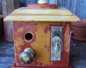 One of a kind Vintage Hardware Birdhouse
