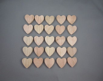 """1 1/4"""" Cherry Hearts (25)"""