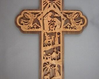 Christmas Manger Cross