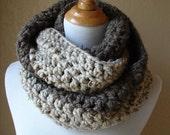 Two Tone, crochet cowl scarf