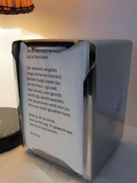 Chrome napkin dispenser